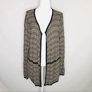 JH collectible Black and Tan cardigan, size 2X
